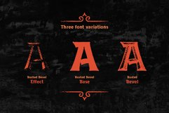 Rusted Bevel Typeface Product Image 2