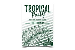 Areca Palm Tropical Exotic Leaf Banner Vector Product Image 1