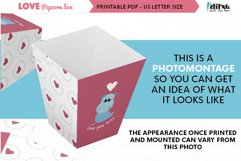 Valentines printable popcorn box, love DIY party decorations Product Image 5