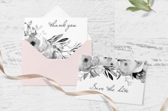 Gray Floral Clipart For Wedding Stationery Product Image 3