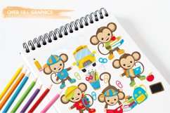 Monkey Students graphics and illustrations Product Image 3