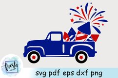 4th of July Truck SVG 4th of July Svg Truck Fireworks Svg Product Image 2