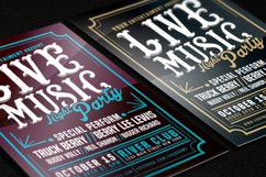 Live Music Typography Poster Flyer Product Image 2