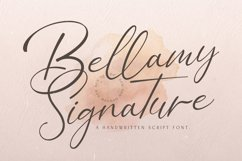 Bellamy Signature - Handwritten Font Product Image 1