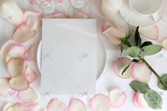 Table card Mockup with a Rose. PSD+JPG Product Image 3