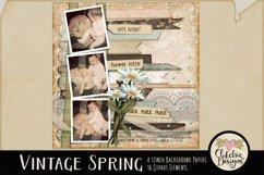 Digital Scrapbook Kit - Vintage Floral Scrapbooking Clipart Product Image 5