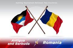 Antigua vs Romania Two Flags Product Image 1