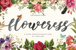 Floweress - Hand Painted Brush Font Product Image 1