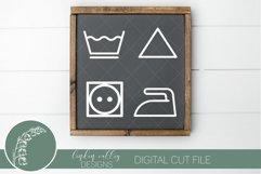 Laundry Symbols SVG|Farmhouse Laundry Room Sign SVG Product Image 1