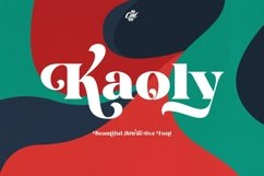 Kaoly - Beautiful Attractive Font Product Image 1