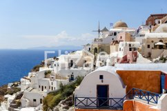 view of Oia on the island of Santorini in Greece Product Image 1