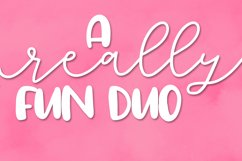 Totally Lovely - A Script & Print Font Duo Product Image 2