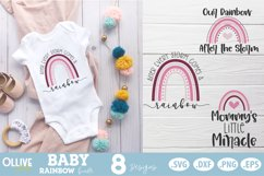 Baby Rainbow SVG Bundle  Baby Boho Rainbow SVG Product Image 3
