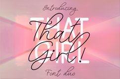 That Girl Font Duo Product Image 1