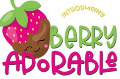 Web Font Berry Adorable Font Product Image 1