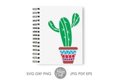 Cactus svg, cactus in pot, cactus vector, succulent clip art Product Image 5