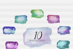 Brush Strokes-Watercolor clipart-Watercolor-square-Ink splatter clipart-Planner clipart-commercial use-Watercolor Swipes-Ink Blot Clipart Product Image 2