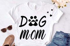 Dog mom cut file, dog mama svg, dog paw print svg, dog lover Product Image 1