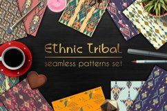 Ethnic tribal seamless pattern set Product Image 1