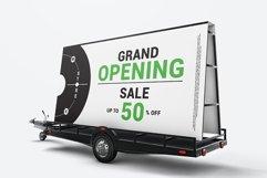Mobile Billboard Trailer Advertising Sign Mockup Product Image 4