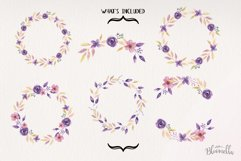 Lilac Frames Watercolor Floral Border Flowers Summer Product Image 4