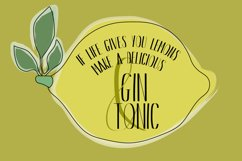 Gin And Tonic   Sans Serif Font Duo Product Image 3