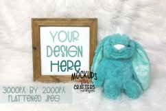 REVERSE CANVAS with teal bunny, Mock-Up, Double Duty Product Image 1
