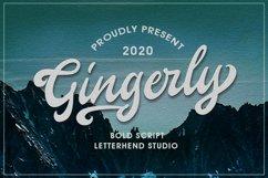 Gingerly - Bold Script Typeface Product Image 1