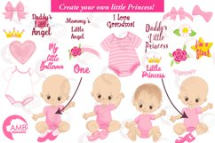 Daddy's little princess clipart, graphics, illustrations AMB-1293 Product Image 3