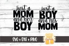 Mommy and Me SVG - Just A Mom And Her Boy Product Image 2