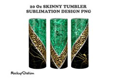 Marble 20oz Skinny Tumbler Sublimation Design PNG Product Image 2
