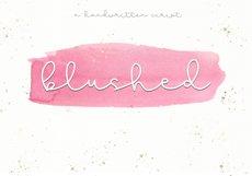 Blushed - A Cute Handwritten Script Product Image 1