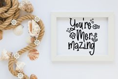 Madison's tail - A mermaid font plus nautical doodles Product Image 6