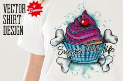 Cupcake Tattoo Style Vector Product Image 1