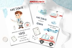 Watercolor Ambulance. Clipart, cards, seamless patterns Product Image 4