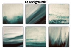 12 Dark Green Watercolor Ombre Backgrounds Product Image 2