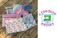 Vinyl Zipper Bag SUPER Set for 4×4 to 9×14.5 in Hoops & Tabs Product Image 2