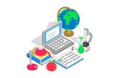 Study clip art, isometric style Product Image 1