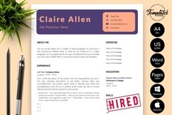 Creative Resume CV Template for Word & Pages Claire Allen Product Image 1