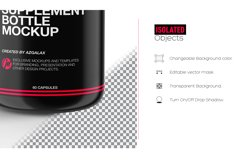 Supplement Bottle Mockup, Glossy Plastic Material Product Image 5