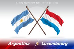 Argentina vs Luxembourg Two Flags Product Image 1