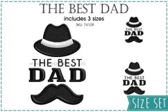 The Best Dad Hat and Mustache Embroidery Design for Machines Product Image 1