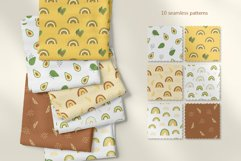 Avocados and Rainbows Set, Clipart, Patterns, Alphabet. Product Image 6