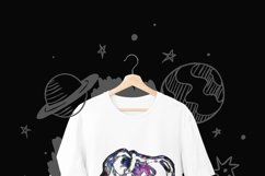Sublimation design - T-rex Dinosaurs - Galaxy Outer space Product Image 3