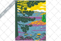 Emerald Bay Lake Tahoe in the Sierra Nevada Mountains WPA Product Image 1