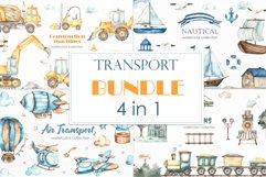 Transport bundle. Watercolor Product Image 1