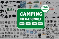 Camping SVG Bundle| Hiking Cut File | Silhouette Product Image 1