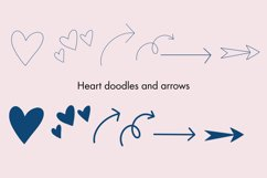Doodle Stamps for Procreate - Banners, Shapes, Hearts Arrows Product Image 5