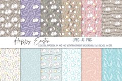 Happy Easter. Easter digital paper set. Seamless pattern Product Image 1