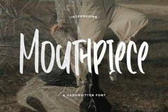 Web Font Mouthpiece - Handwritten Font Product Image 1